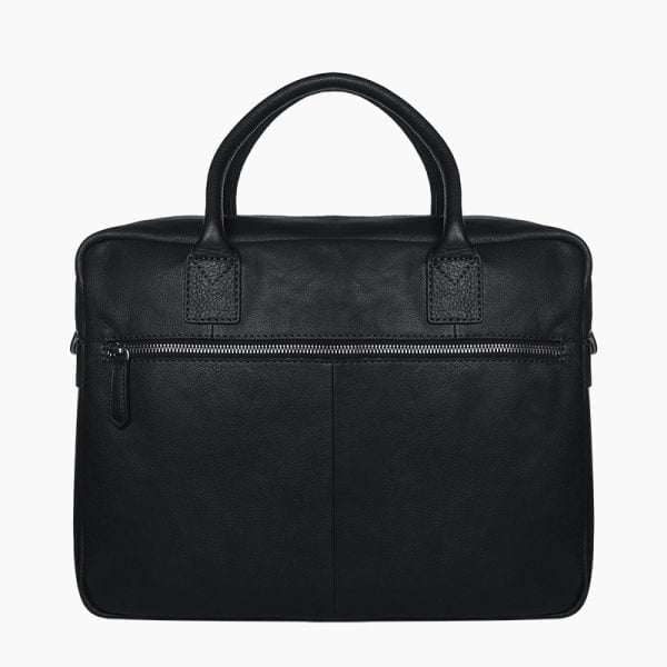 Diaper bag black leather