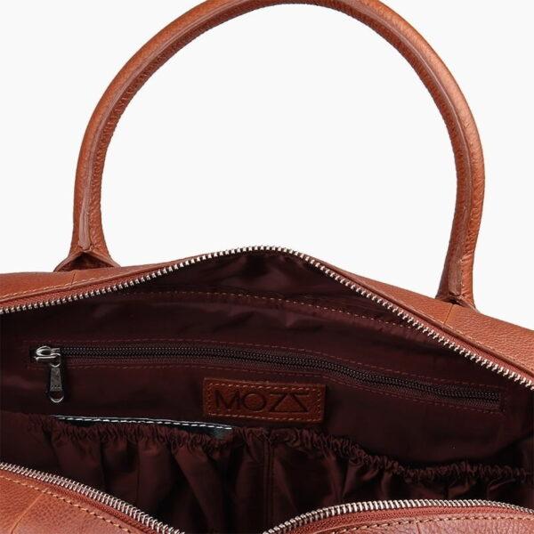 Diaper bag cognac leather