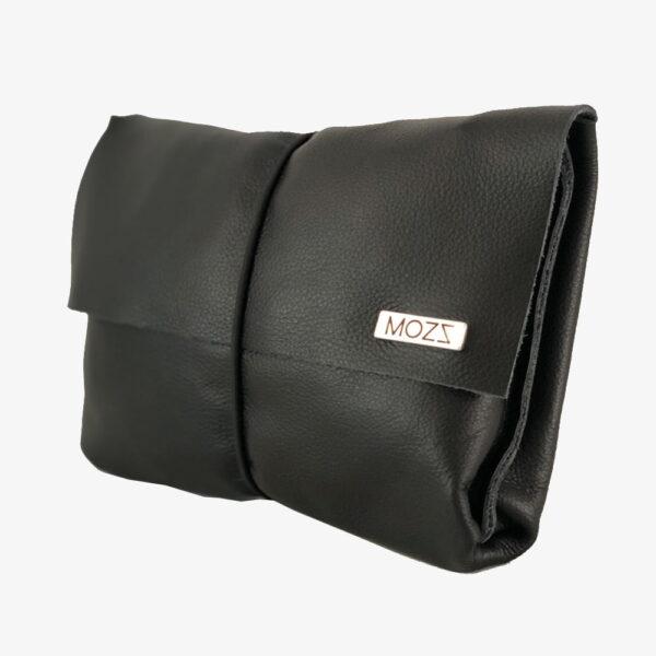 Luieretui zwart leer Mozz Bags