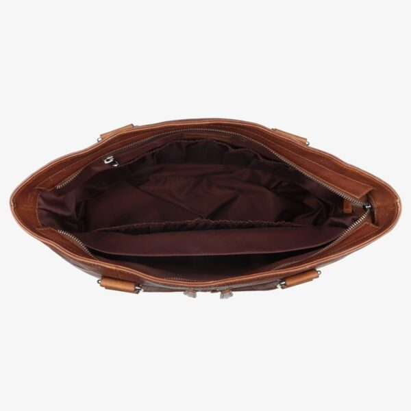 Wickeltasche cognac Leder
