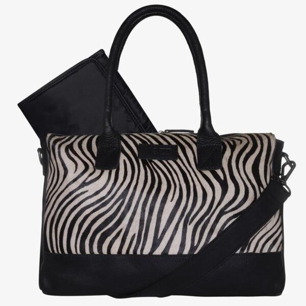 Trendy leren Luiertas zwart Zebra