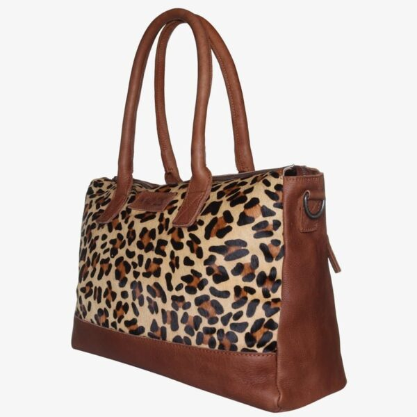Diaper bag leopard leather