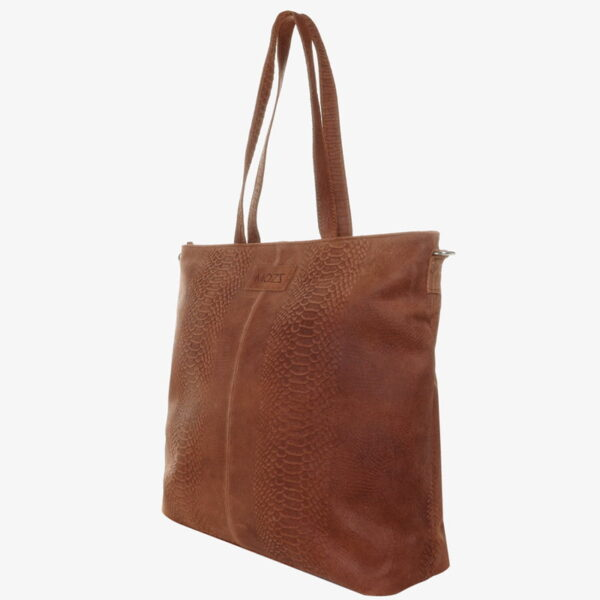 Luiertas cognac snake mom bag
