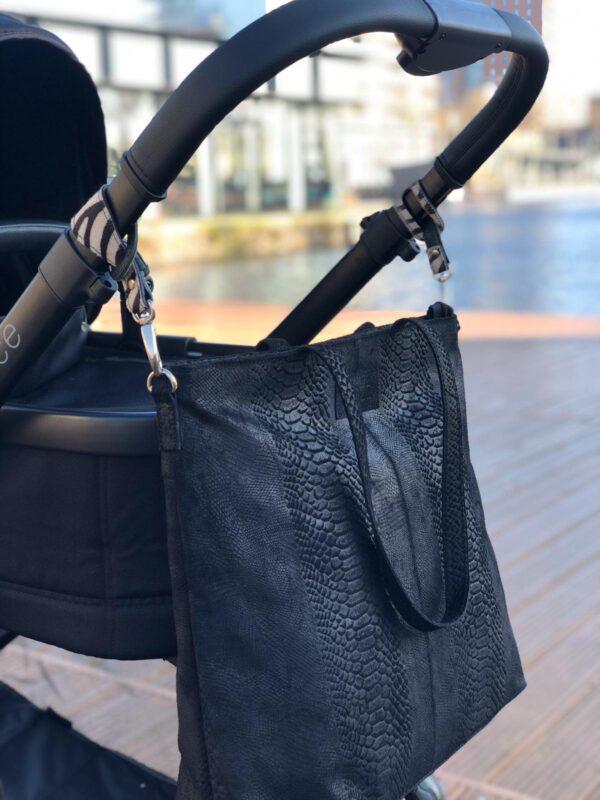 Zwarte luiertas snake Mozz Bags