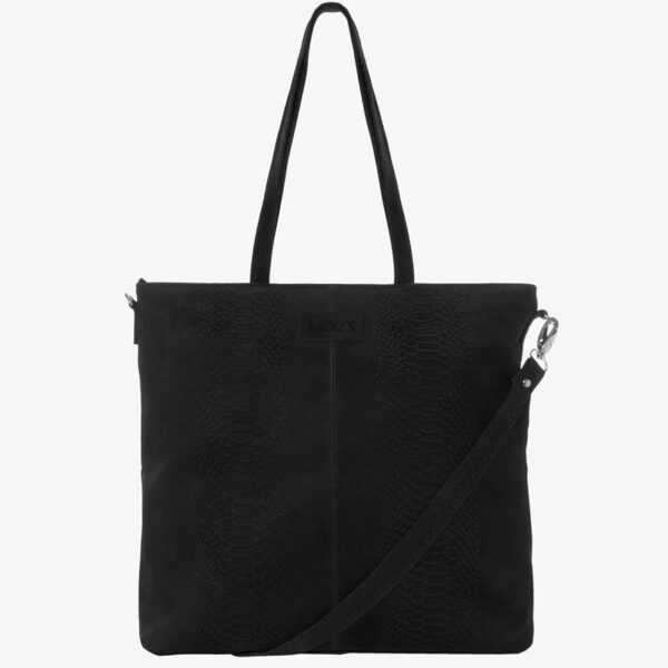 Nursery bag black leather