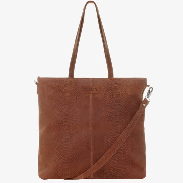 Nursing bag cognac leather