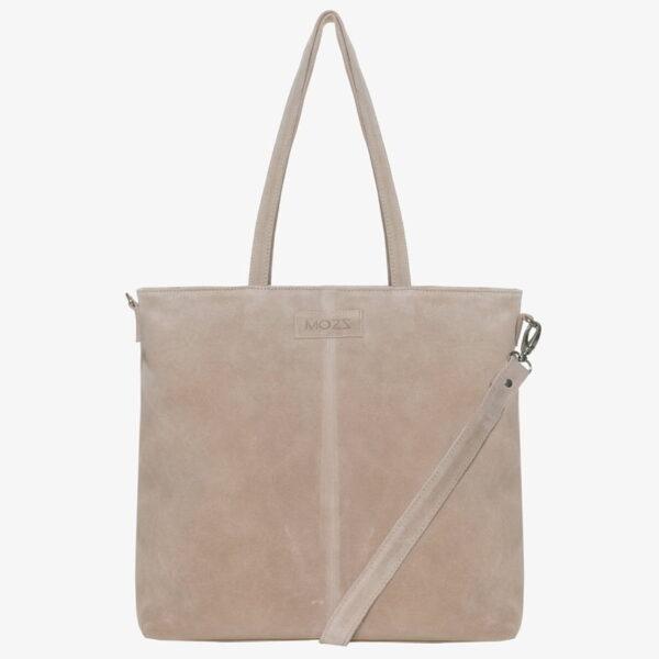 Nursing bag beige leather