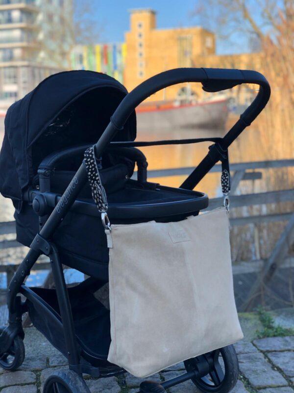 Nursery bag beige leather Mozz