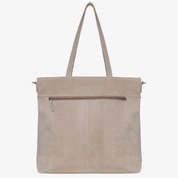 Diaper bag beige snake leather