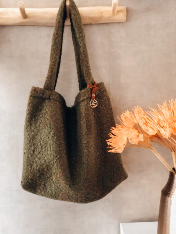Mom Bag Easy Going Boucle Olijf