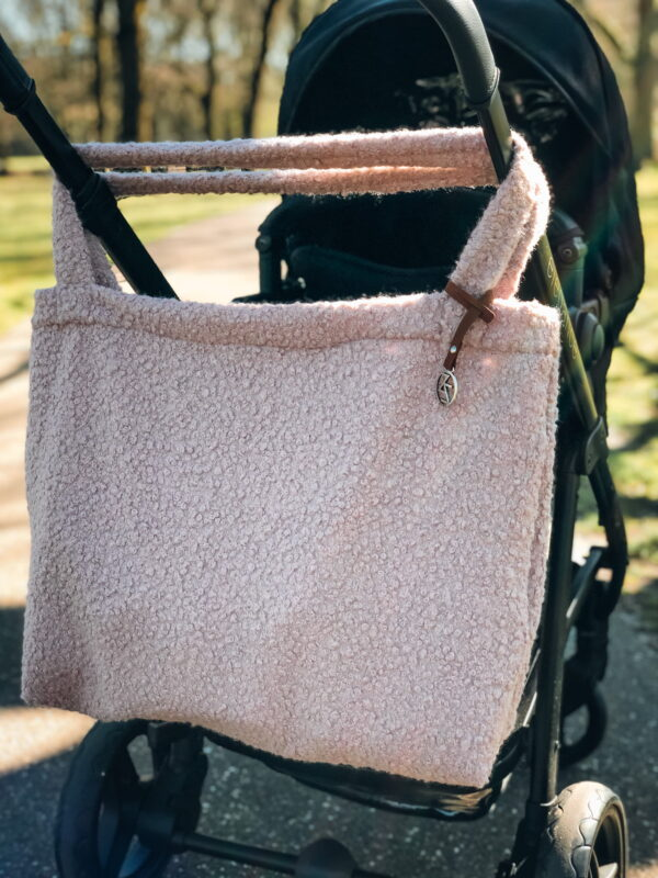 Mom Bag Easy Going Boucle Pink