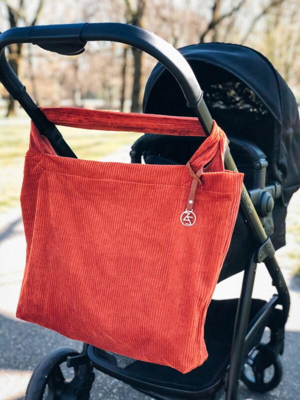 Mom Bag Easy Going Curduroy Rust