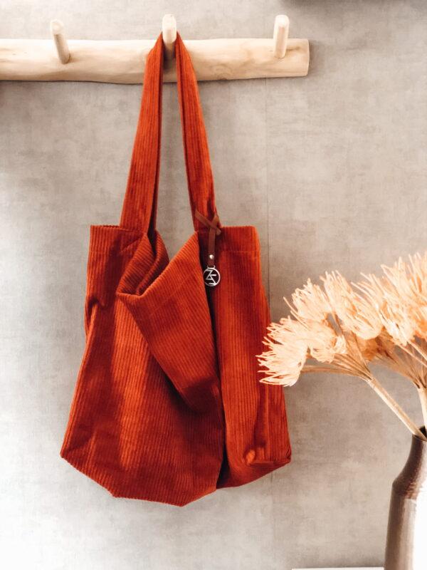 Mom Bag Easy Going Rib Rust