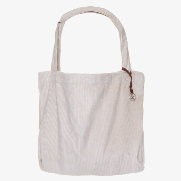 De Mom Bag Easy going tote bag corduroy Creme