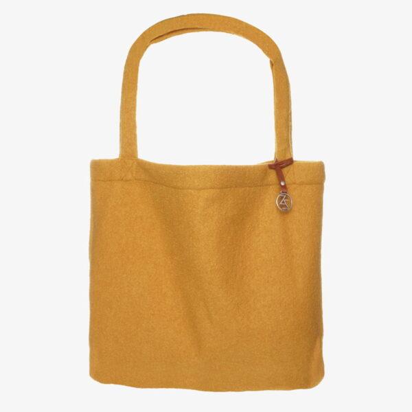 Mom Bag van wol Easy going tote bag wool Ochre