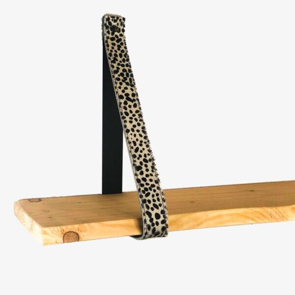 Leren plankendragers baby cheetah wit