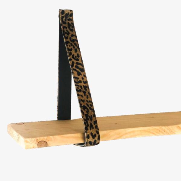 Leren plankendragers leopard