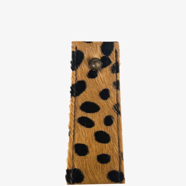 Plankendragers leer cheetah beige
