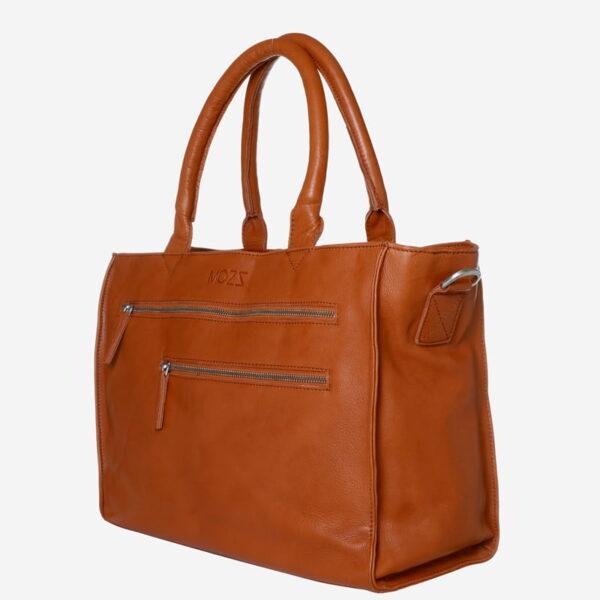 Cognac Wickeltasche Leder Mozz Bags