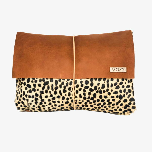 Diaper pouch cognac leather