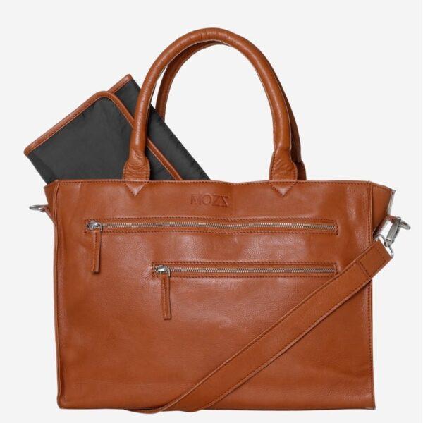 Cognac Luiertas Leer Mozz Bags