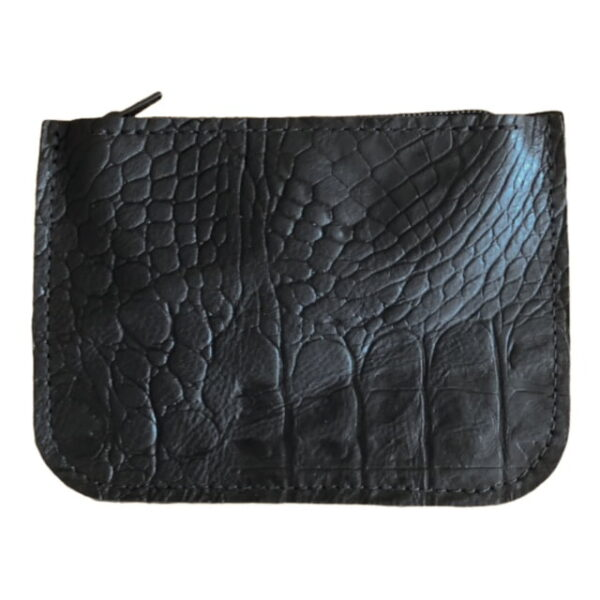 Wallet - Black Crocodile