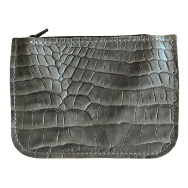 Wallet - Dark Grey Crocodile