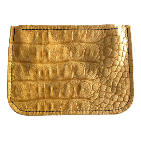 Wallet Yellow Crocodile