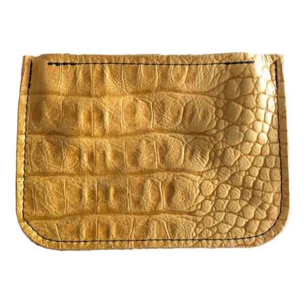 Brieftasche Gelb Krokodil